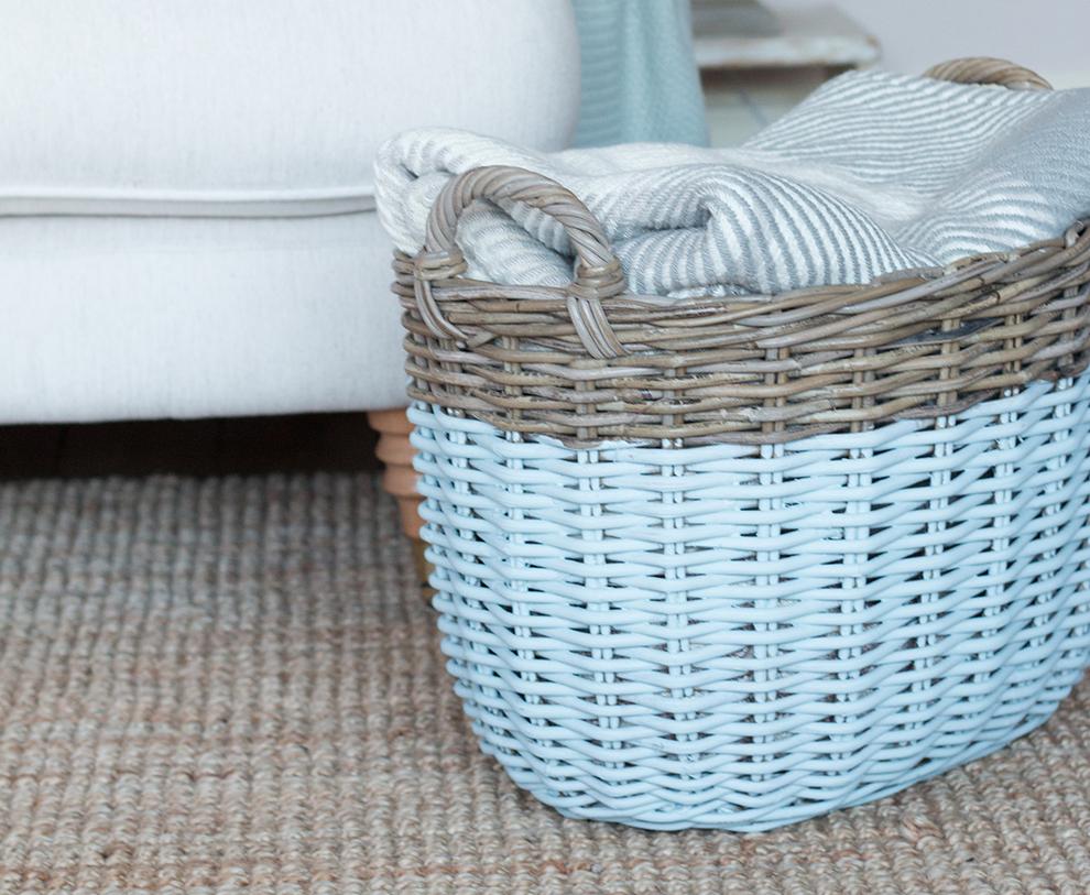 bedroom organization hacks: wicker basket storage