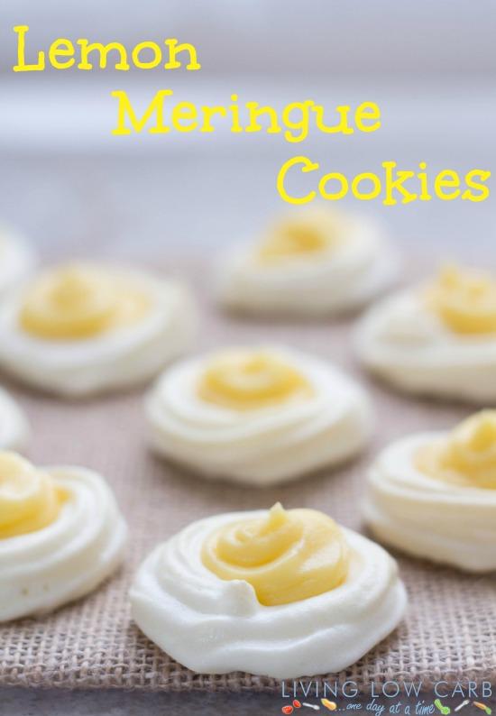 keto lemon dessert: lemon meringue cookies