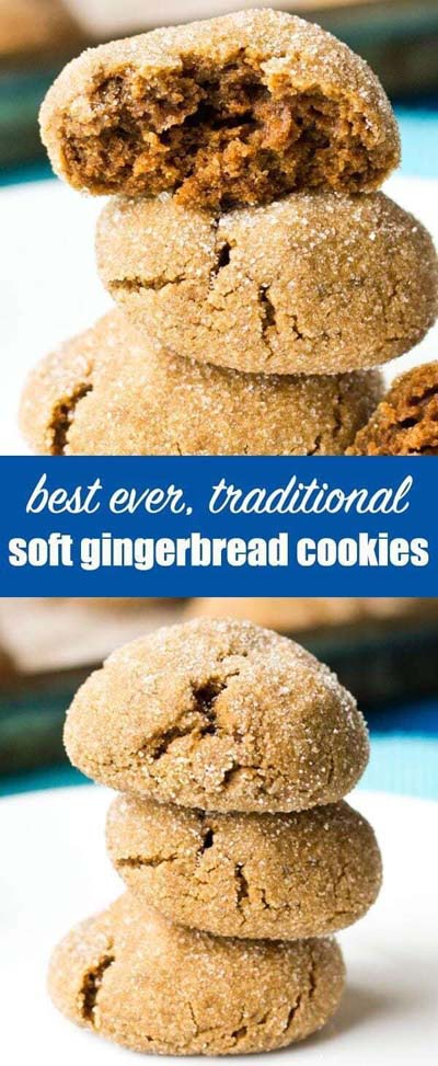Gingerbread Recipes: Best, Ever Traditional Soft Gingerbread Cookies
