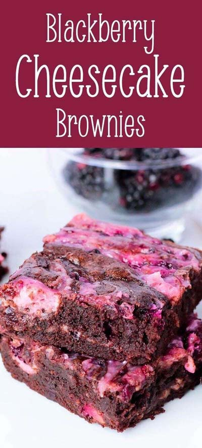 Brownie Recipes: Blackberry Cheesecake Brownies