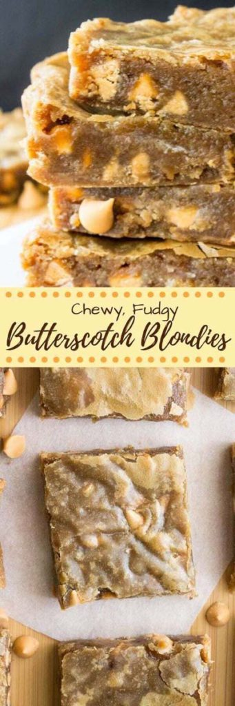 Brownie Recipes: Chewy, Fudgy Butterscotch Blondies
