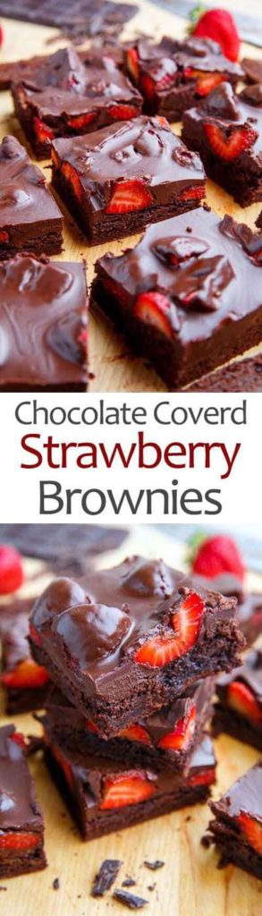 Brownie Recipes: Chocolate Covered Strawberry Brownies