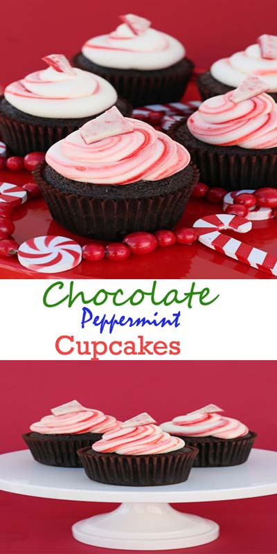Christmas Cupcakes: Chocolate Peppermint Cupcakes