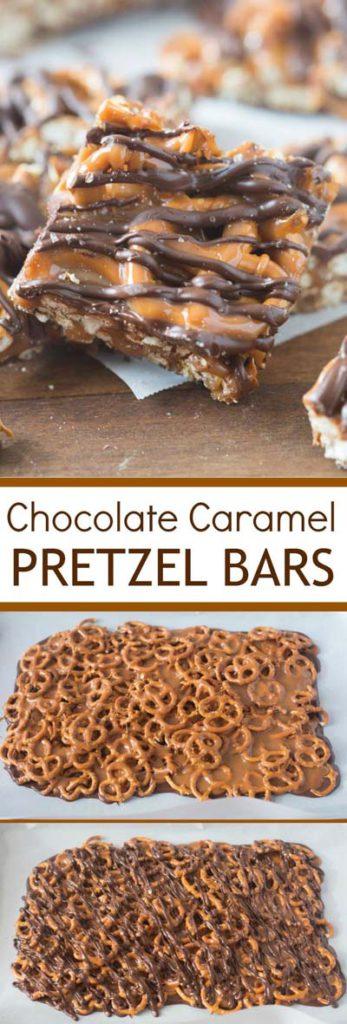 Caramel Recipes: Chocolate Caramel Pretzel Bars