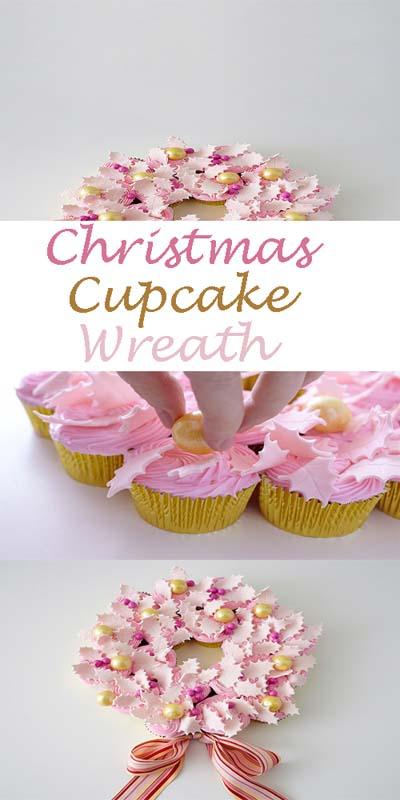 Christmas Cupcakes: Christmas Cupcake Wreath
