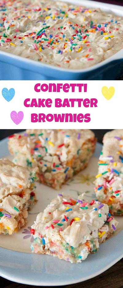 Brownie Recipes: Confetti Sprinkle Cake Batter Brownies