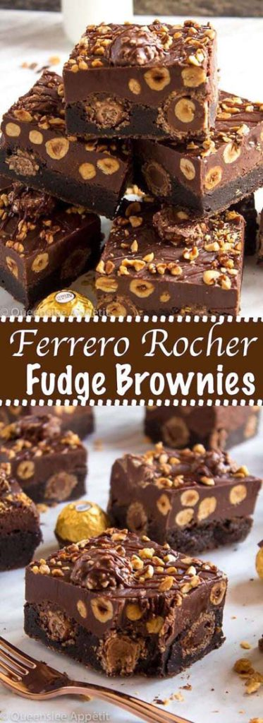 Brownie Recipes: Ferrero Rocher Fudge Brownies
