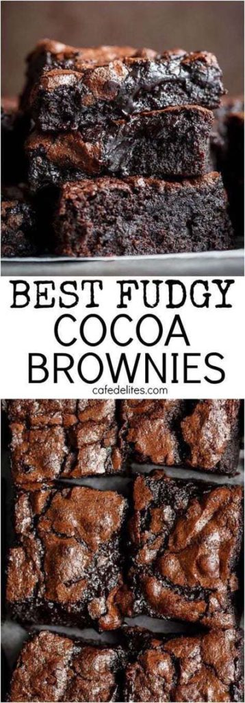 Brownie Recipes: Fudge One-Bowl Cocoa Brownies