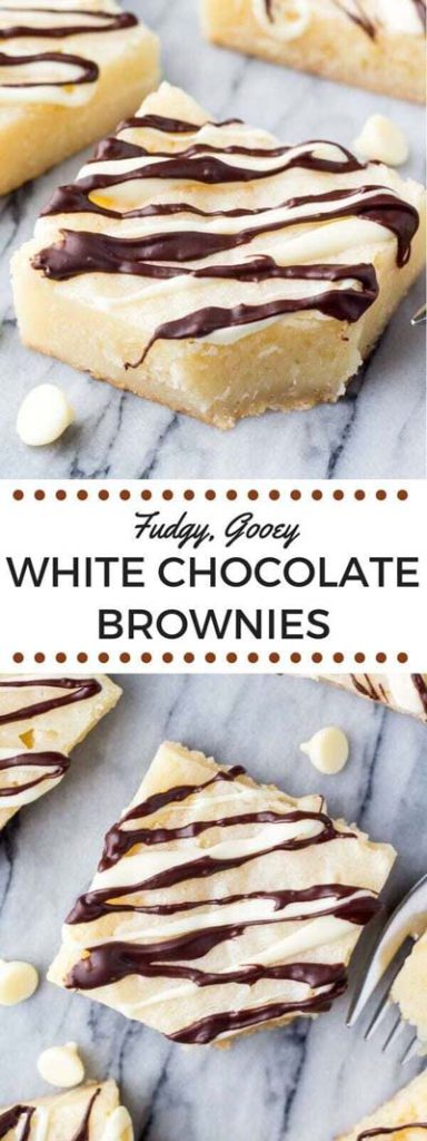 Brownie Recipes: Fudgy, Gooey White Chocolate Brownies