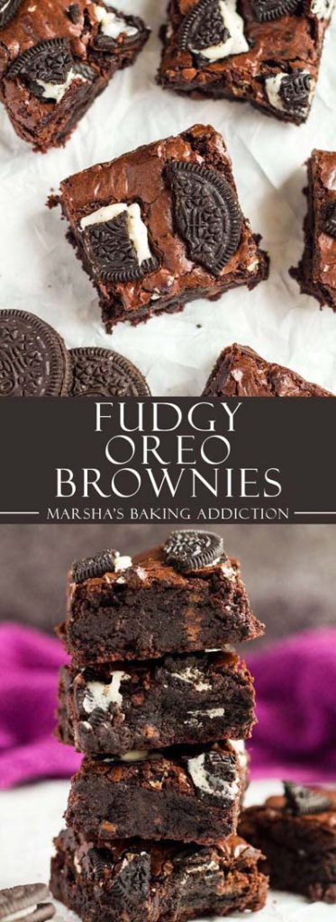 Brownie Recipes: Fudgy Oreo Brownies