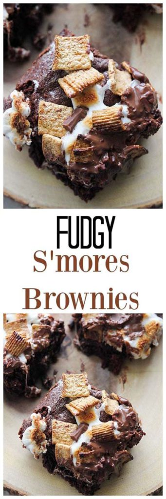 Brownie Recipes: Fudgy S'mores Brownies