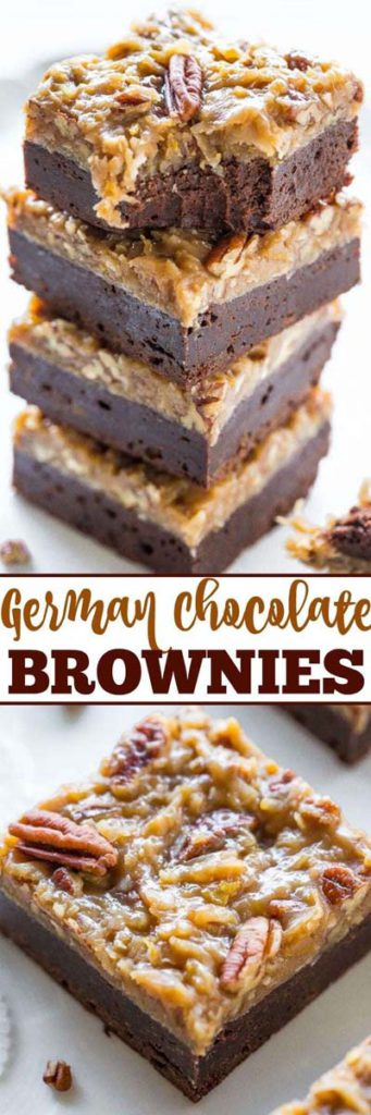 Brownie Recipes: German Chocolate Brownies