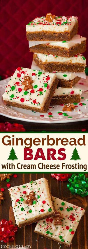 Gingerbread Recipes: Gingerbread Bars with Cream Cheese Frosting