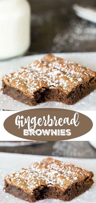 Gingerbread Recipes: Gingerbread Brownies