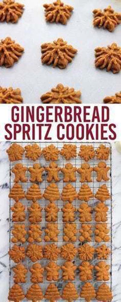 Gingerbread Recipes: Gingerbread Spritz Cookies