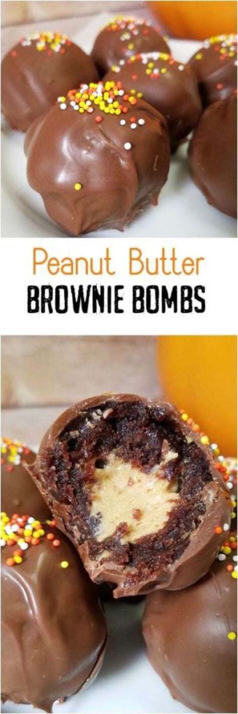 Brownie Recipes: Peanut Butter Brownie Bombs