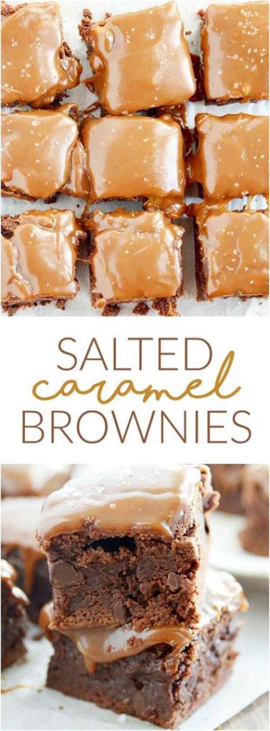 Brownie Recipes: Salted Caramel Brownies