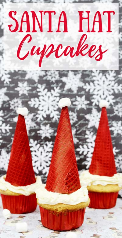 Christmas Cupcakes: Easy Christmas Santa Hat Cupcakes