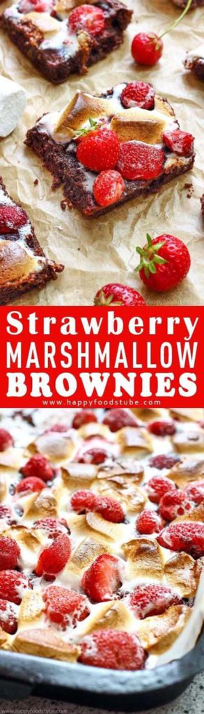 Brownie Recipes: Strawberry Marshmallow Brownies