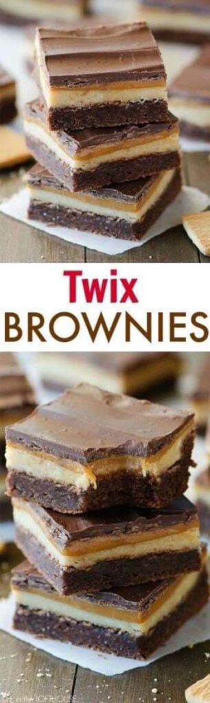 Brownie Recipes: Twix Brownies