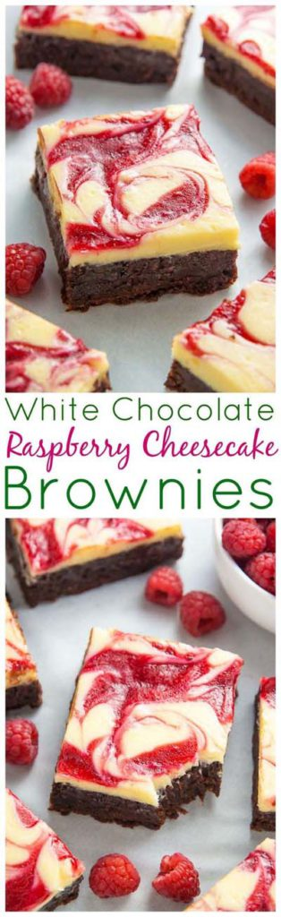 Brownie Recipes: White Chocolate Raspberry Cheesecake Brownies