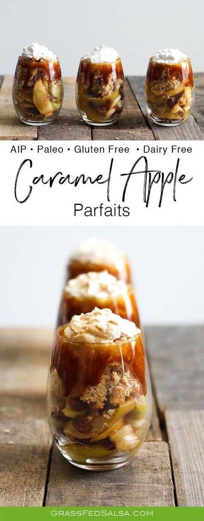 Caramel Recipes: Caramel Apple Parfaits