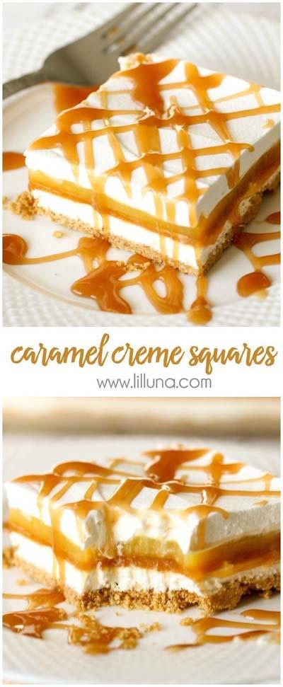Caramel Recipes: Caramel Creme Squares