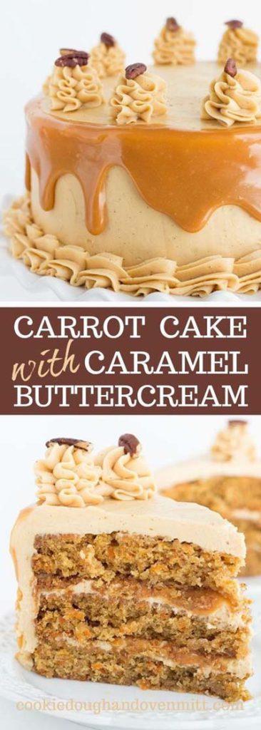 Caramel Recipes: Carrot Cake with Caramel Buttercream
