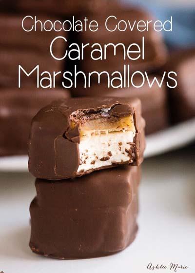 Caramel Recipes: Chocolate Covered Caramel Marshmallows