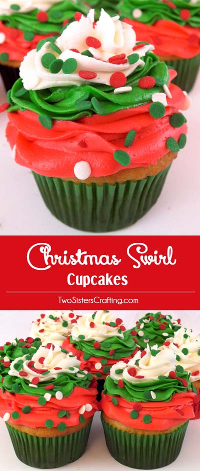 Christmas Cupcakes: ChristmasSwirl Cupcakes