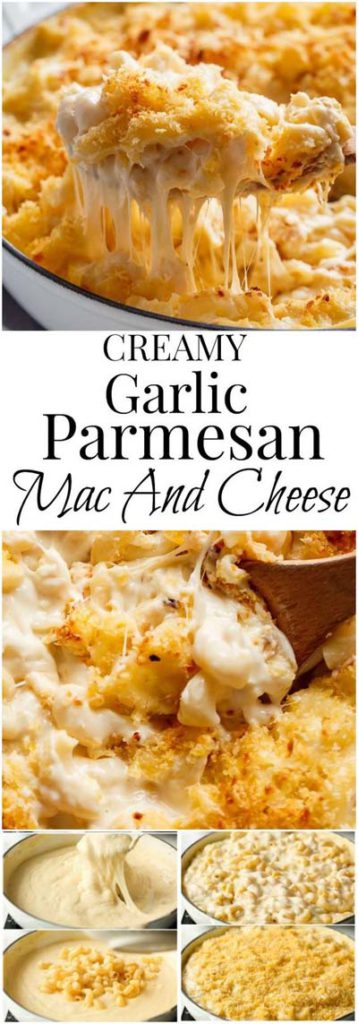 Mac and Cheese Recipes: Creamy Garlic Parmesan Mac And Cheese