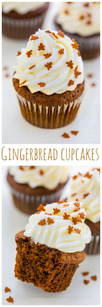 Christmas Cupcakes: Gingerbread Latte Cupcakes