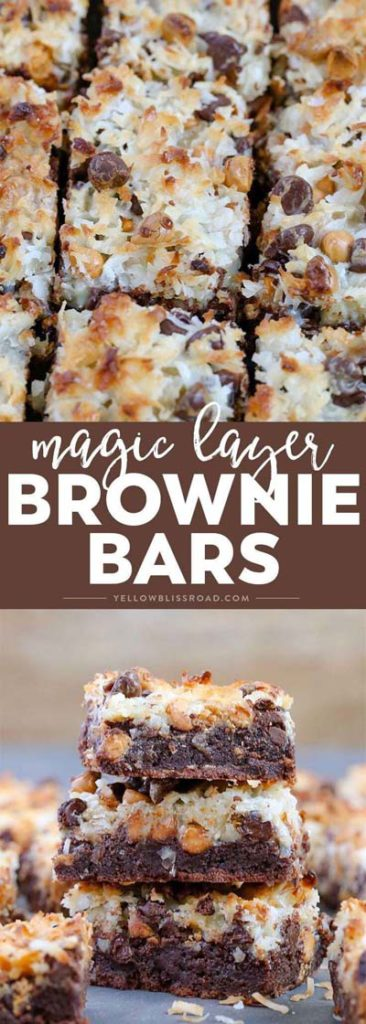Brownie Recipes: Magic Layer Brownie Bars