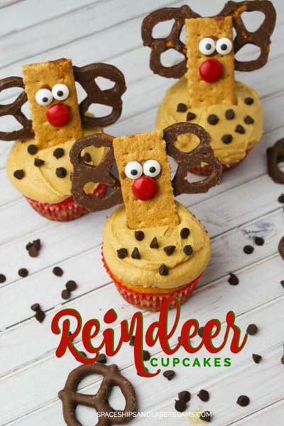 Christmas Cupcakes: Adorable and Easy Reindeer Christmas Cupcakes