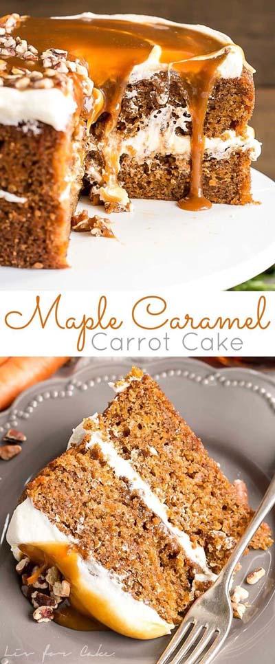Caramel Recipes: MapleCaramel Carrot Cake