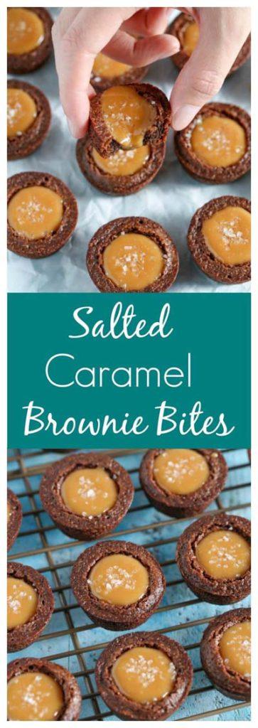 Caramel Recipes: Salted Caramel Brownie Bites