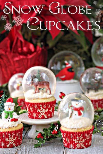Christmas Cupcakes: Snow Globe Cupcakes