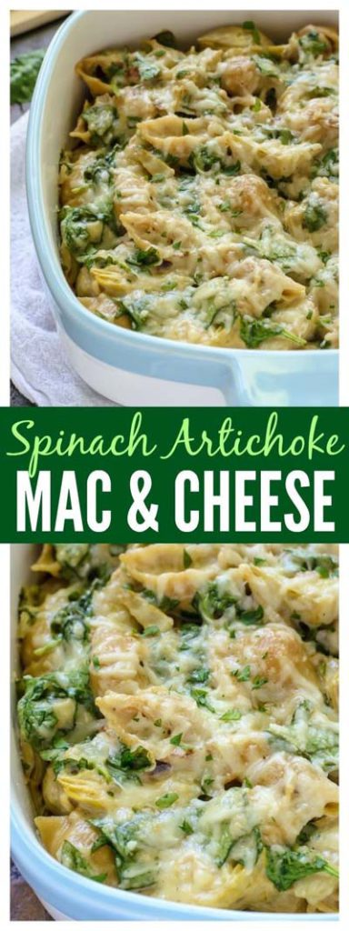 Mac And Cheese Recipes: Spinach Artichoke Mac & Cheese