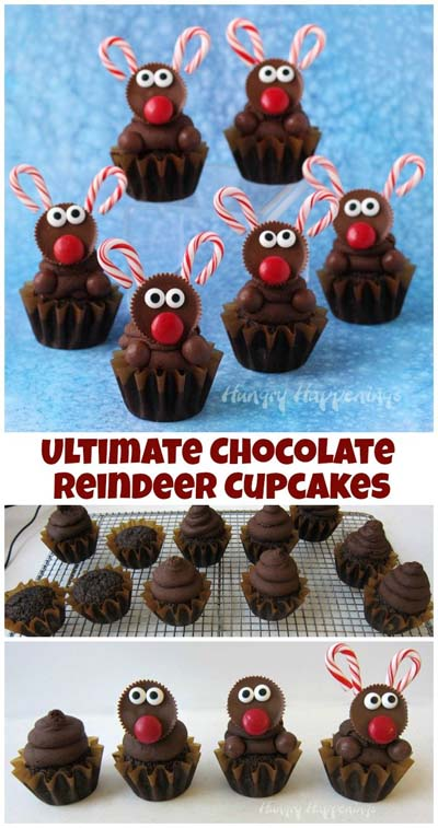 Christmas Cupcakes: Ultimate Chocolate Reindeer Cupcake