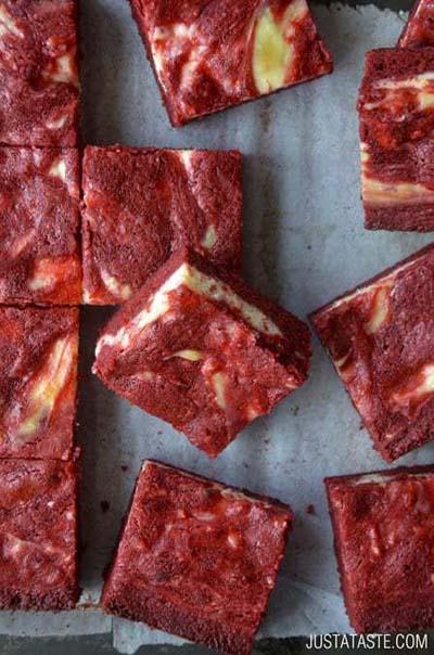 Valentines Day Desserts: Red Velvet Cheesecake Brownies