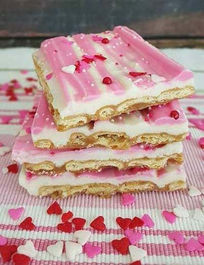 Valentines Day Recipes: Valentine's Day Sugar Crackers