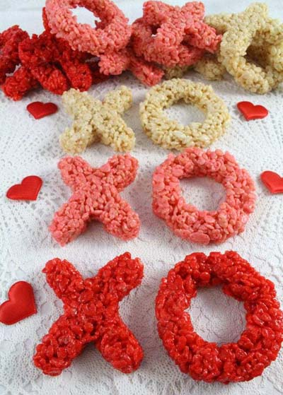 Valentines Day Desserts: XOXO Rice Krispie Treats