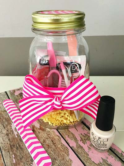 Valentines Day Gift Ideas: Mani-Pedi In A Jar