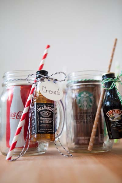 Valentines Day Gift Ideas: Mason Jar Cocktail Gifts