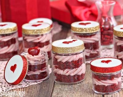 Valentines Day Gift Ideas: Red Velvet In A Jar