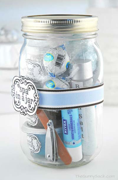 Valentines Day Gift Ideas: Spa in a Jar