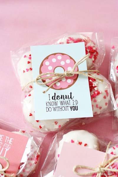 Valentines Day Gift Ideas: Valentine Donut Printables