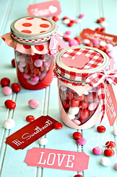 Valentines Day Gift Ideas: Valentine M&Ms In A Jar