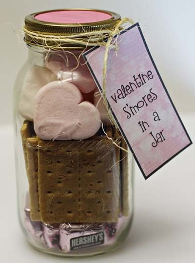 Valentines Day Gift Ideas: Valentine S'mores In A Jar